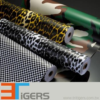 black & white leopard PVC automobile graphic marking stickers