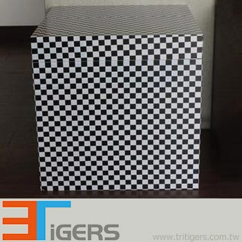 Large check pattern vinyl wraps