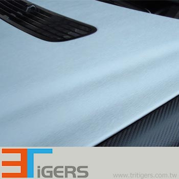 Q253 Brushed metallic PVC car sticker (aluminum)