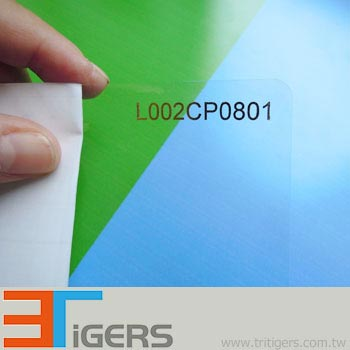 Glossy cold laminating film for cold lamination