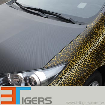black & yellow leopard vehicle wraps
