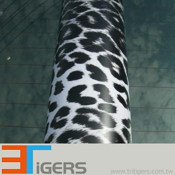 black & white leopard PVC automobile graphic marking stickers