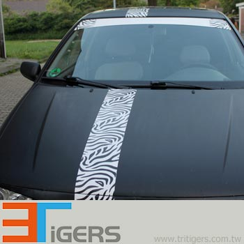zebra graphic vehicle wrapping stickers