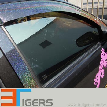 automotive wrapping films in glitter metallic flake pattern