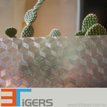 cubic decorative window film